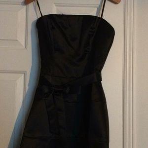 Evening Strapless Black Dress